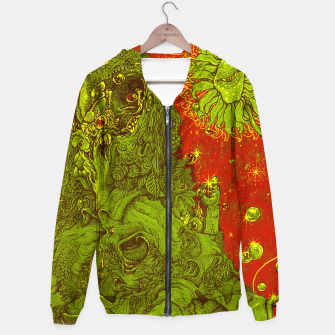 Thumbnail image of Sunflower green & Red Sky Hoodie, Live Heroes