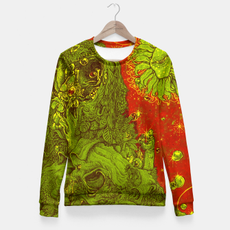 Thumbnail image of Sunflower green & Red Sky Fitted Waist Sweater, Live Heroes