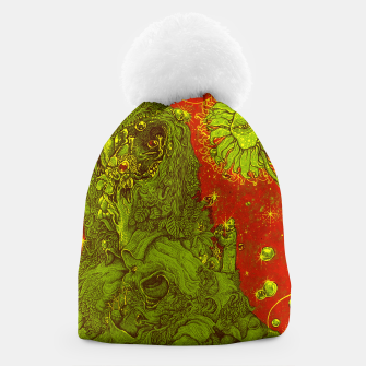 Thumbnail image of Sunflower green & Red Sky Beanie, Live Heroes