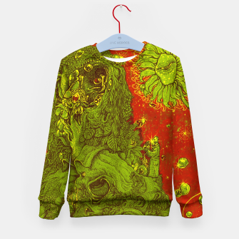 Thumbnail image of Sunflower green & Red Sky Kid's Sweater, Live Heroes