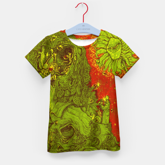 Thumbnail image of Sunflower green & Red Sky Kid's T-shirt, Live Heroes