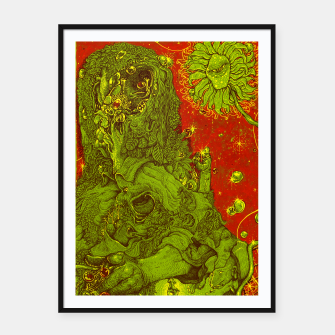 Thumbnail image of Sunflower green & Red Sky Framed poster, Live Heroes
