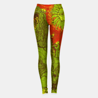 Miniatur Sunflower green & Red Sky Leggings, Live Heroes
