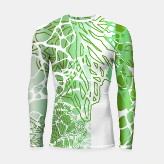 Thumbnail image of THE GREEN OCEAN Longsleeve Rashguard , Live Heroes