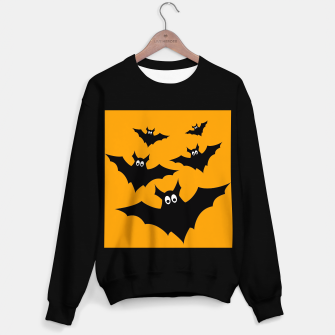 Thumbnail image of Cool cute Flying bats Halloween black orange Sweater regular, Live Heroes