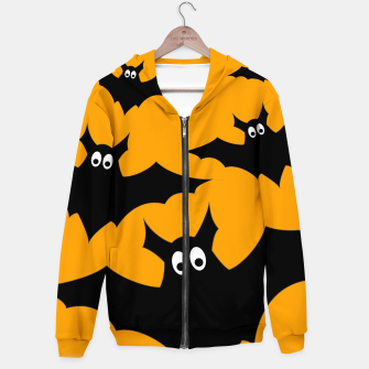Thumbnail image of Cool cute Flying bats Halloween black orange Hoodie, Live Heroes