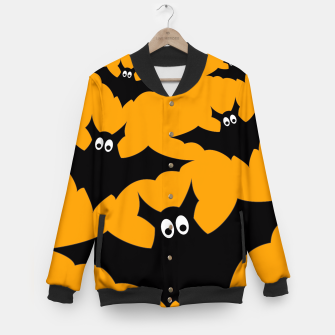 Thumbnail image of Cool cute Flying bats Halloween black orange Baseball Jacket, Live Heroes