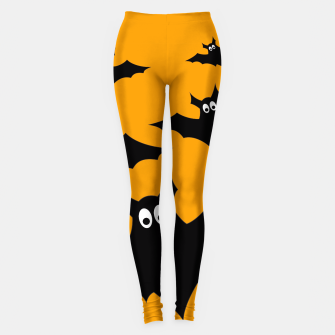 Thumbnail image of Cool cute Flying bats Halloween black orange Leggings, Live Heroes