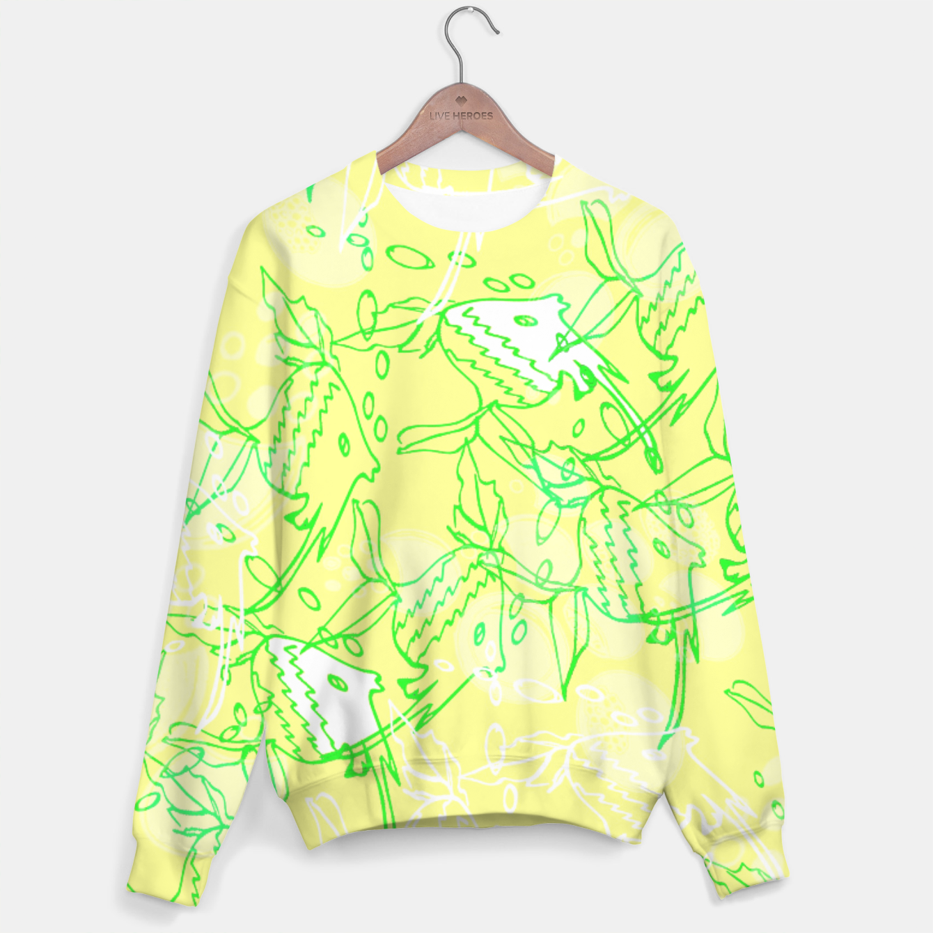 Image of YELLOW FISHES IN THE SEA Sweater - Live Heroes
