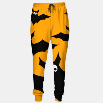 Thumbnail image of Cool cute Flying bats Halloween black orange Sweatpants, Live Heroes