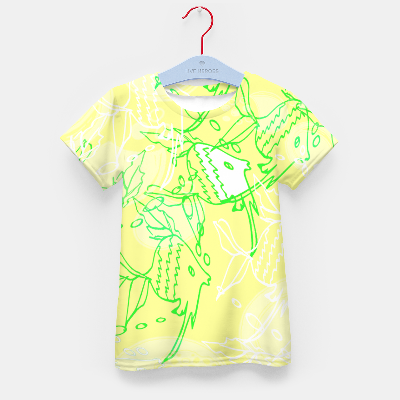 Image of YELLOW FISHES IN THE SEA Kid's T-shirt - Live Heroes