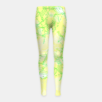 Thumbnail image of YELLOW FISHES IN THE SEA Girl's Leggings, Live Heroes