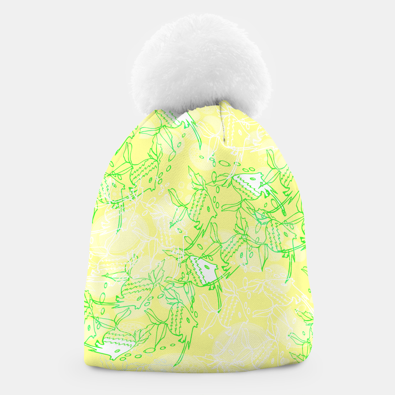 Image of YELLOW FISHES IN THE SEA Beanie - Live Heroes