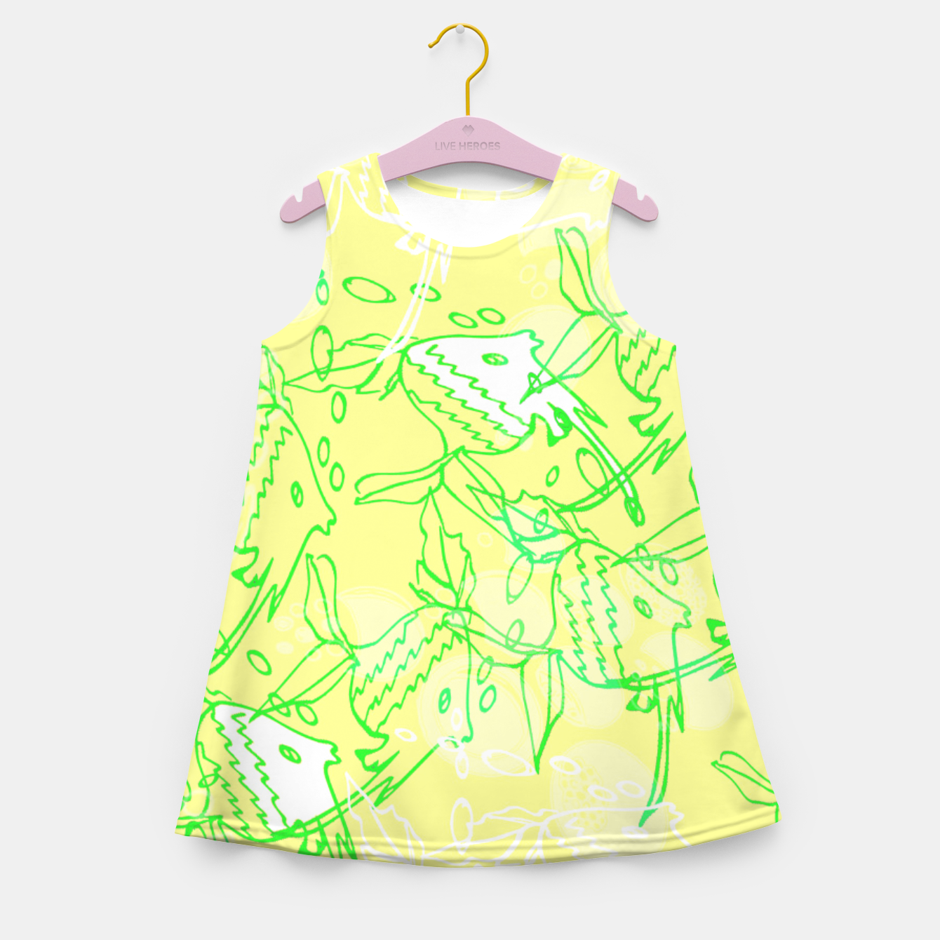Image of YELLOW FISHES IN THE SEA Girl's Summer Dress - Live Heroes