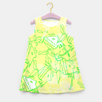 YELLOW FISHES IN THE SEA Girl's Summer Dress thumbnail image