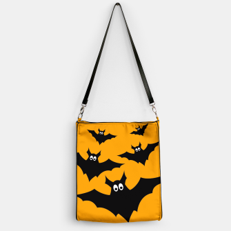 Thumbnail image of Cool cute Flying bats Halloween black orange Handbag, Live Heroes