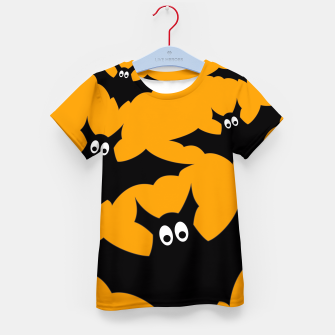 Thumbnail image of Cool cute Flying bats Halloween black orange Kid's T-shirt, Live Heroes