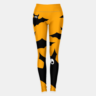 Miniatur Cool cute Flying bats Halloween black orange Leggings, Live Heroes