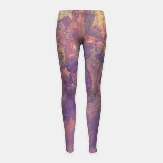 Thumbnail image of Flowy Abstract Girl's Leggings, Live Heroes