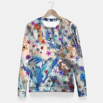 Thumbnail image of Joyful Floral Fitted Waist Sweater, Live Heroes