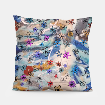 Thumbnail image of Joyful Floral Pillow, Live Heroes