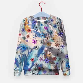 Thumbnail image of Joyful Floral Kid's Sweater, Live Heroes