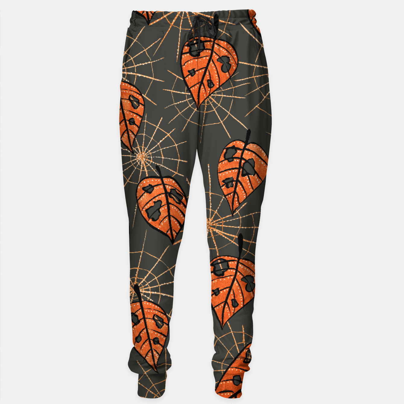 Image of Autumn Leaves With Holes And Spiderwebs Sweatpants - Live Heroes