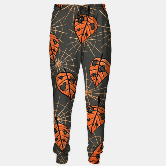 Autumn Leaves With Holes And Spiderwebs Sweatpants thumbnail image