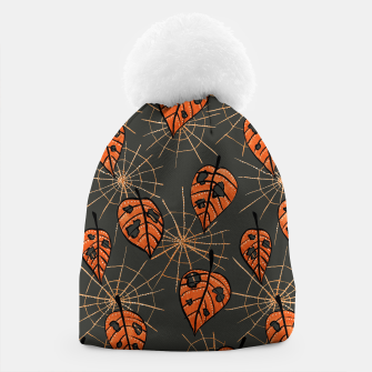 Thumbnail image of Autumn Leaves With Holes And Spiderwebs Beanie, Live Heroes