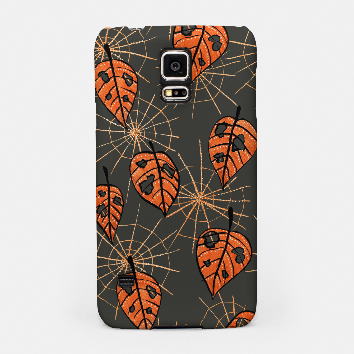 Image of Autumn Leaves With Holes And Spiderwebs Samsung Case - Live Heroes