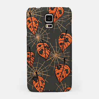 Autumn Leaves With Holes And Spiderwebs Samsung Case thumbnail image