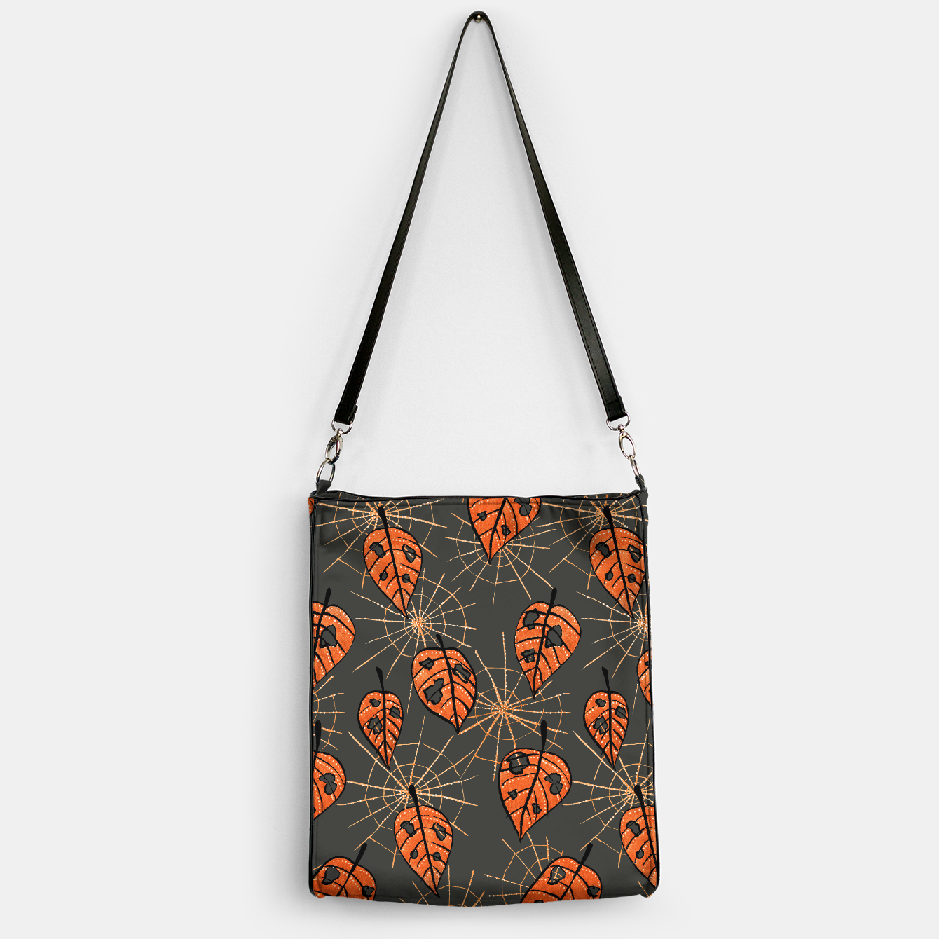 Image of Autumn Leaves With Holes And Spiderwebs Handbag - Live Heroes