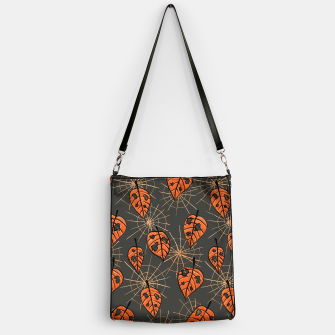Autumn Leaves With Holes And Spiderwebs Handbag thumbnail image