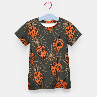 Autumn Leaves With Holes And Spiderwebs Kid's T-shirt thumbnail image