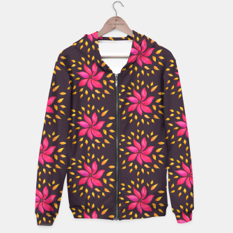 Watercolor Pink Flower Pattern Hoodie thumbnail image
