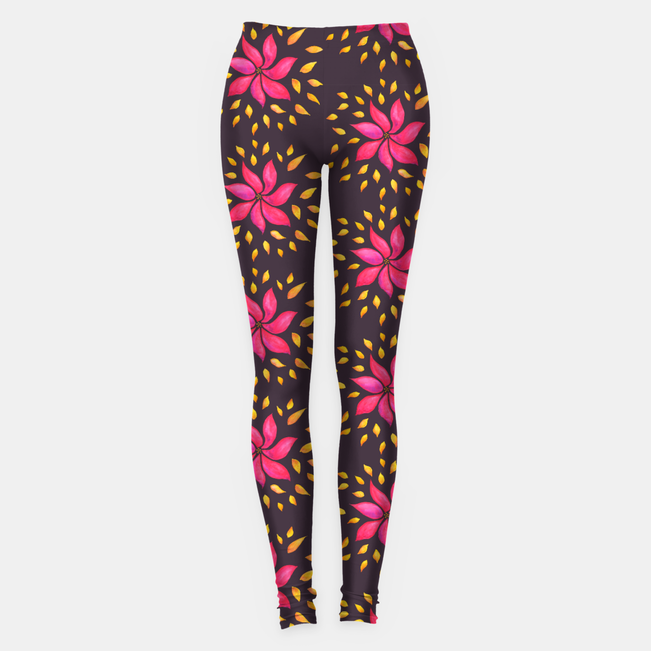 Image of  Watercolor Pink Flower Pattern Leggings - Live Heroes
