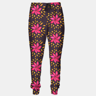 Thumbnail image of  Watercolor Pink Flower Pattern Sweatpants, Live Heroes