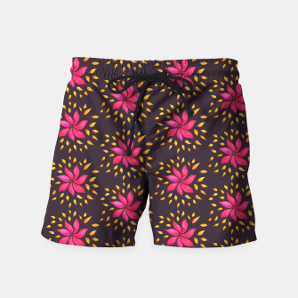 Watercolor Pink Flower Pattern Swim Shorts thumbnail image