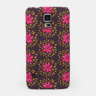 Watercolor Pink Flower Pattern Samsung Case thumbnail image