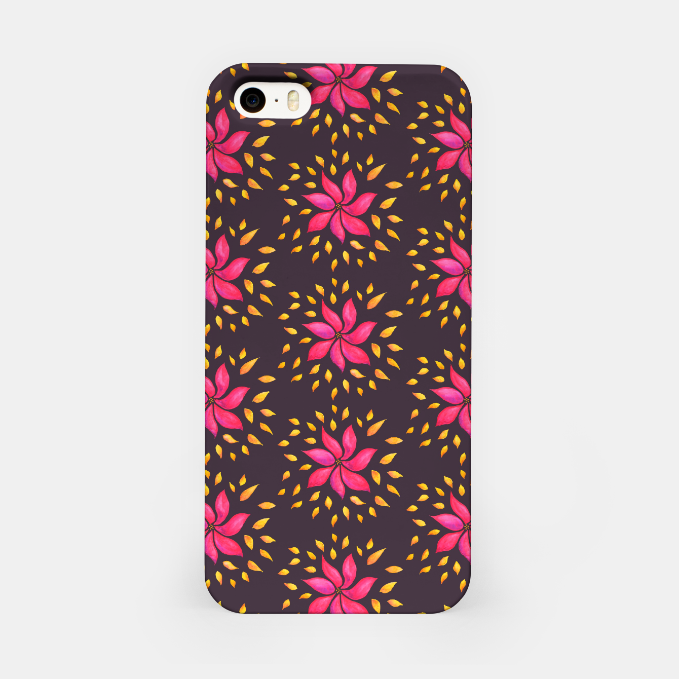 Image of  Watercolor Pink Flower Pattern iPhone Case - Live Heroes