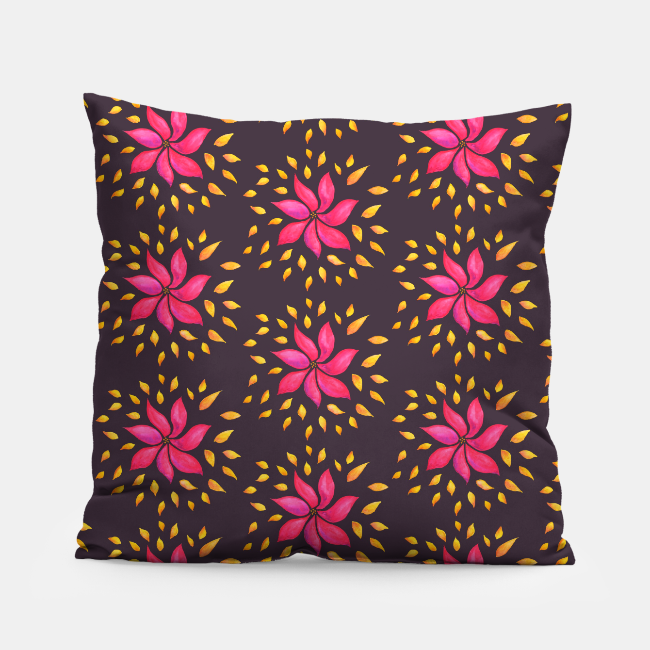 Image of  Watercolor Pink Flower Pattern Pillow - Live Heroes
