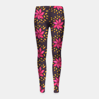 Thumbnail image of  Watercolor Pink Flower Pattern Girl's Leggings, Live Heroes