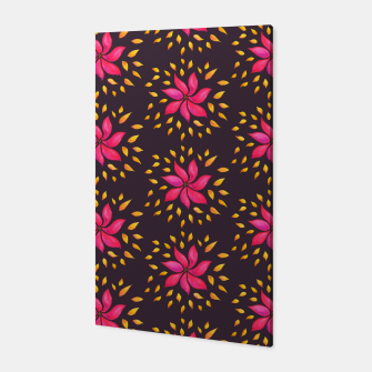 Watercolor Pink Flower Pattern Canvas thumbnail image
