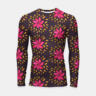 Watercolor Pink Flower Pattern Longsleeve Rashguard  thumbnail image