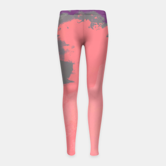 Thumbnail image of Pastel Sky Coral Edition Girl's Leggings, Live Heroes