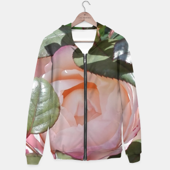 Miniature de image de rose with leaves Bluza z kapturem, Live Heroes