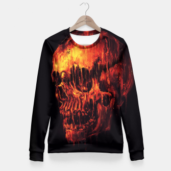 Thumbnail image of Melting Skull Fitted Waist Sweater, Live Heroes