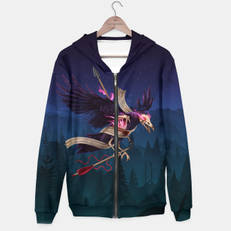 Thumbnail image of The Undead Crow Hoodie, Live Heroes