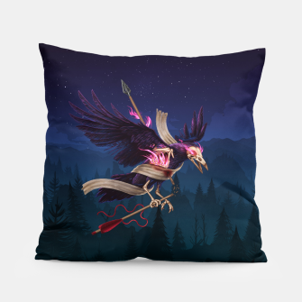 Thumbnail image of The Undead Crow Pillow, Live Heroes
