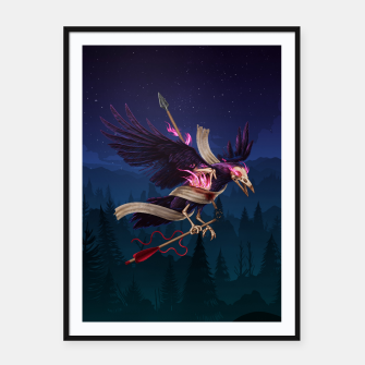 Thumbnail image of The Undead Crow Framed poster, Live Heroes